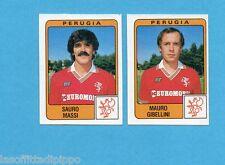 PANINI CALCIATORI 1984/85 -FIGURINA n.437- MASSI+GIBELLINI - PERUGIA -Rec
