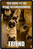 Funny Dog Humor Pug Right Neighborhood Refrigerator Magnet