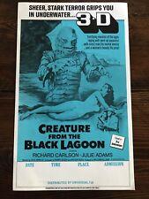 Original CREATURE FROM THE BLACK LAGOON RARE Campus Sci-Fi Poster NEVER FOLDED!