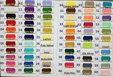 Plain Solid POLYCOTTON FABRIC 2.50 PER METRE Lowest Price on Ebay 69 colours !!!