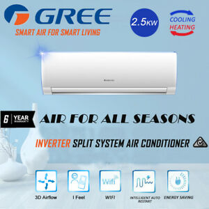 Gree 2.5kW Cool / 3.2kW Heat Split System Air Conditioner GreeAC7202