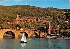 Germany Heidelberg Partie am Neckar Part of the river Neckar Bridge
