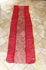 Bright Red Lace Lacey Sequins Light Weight Scarf Fashion Vanity 73""