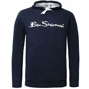 Ben Sherman Mens Logo Hoodie Sweatshirt Jumper Navy 0060888 NVY