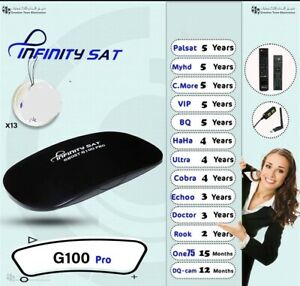 Infinity G100 pro tvbox /DHL shipping 1-2 weeks receiver delivery include Arabic