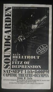 Soundgarden concert flyer