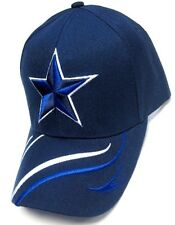 Dallas Cowboys Navy Blue Hat Cap Embroidered Blue Star Logo Curvy Lines Brim