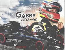 """2015 INDY 500 GABBY CHAVES COLUMBIA ROOKIE INDYCAR 8 1/2""""X11"""" HERO CARD !"""