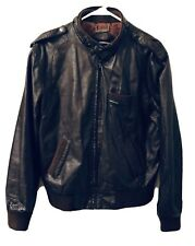 Vintage Members Only Brown Genuine Leather Jacket Mens Size 44 - 1980s Retro
