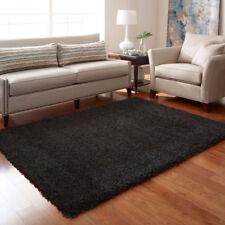 Anthracite tapis épais 160 x 230 cm Plain Épais Doux Haute Pile 5ft3'' X 7ft7''
