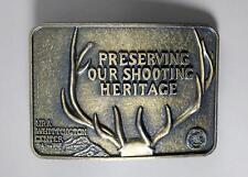 Vintage Nra Whittington Belt Buckle Preserving Our Shooting Heritage Antler Rack