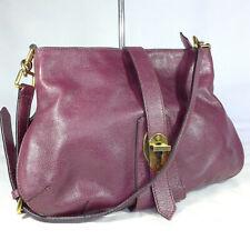 Authentic Rare Burberry Purple Leather Medium Shoulder Hobo Handbag Purse VGC