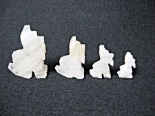 Lot 4 carved Scottie dog figures white onyx crystal?