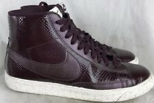 Nike High Top Youth  7.5D Burgundy Patent Leather Casual Sneaker Shoes