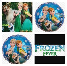 3 Frozen Fever Foiled Balloons Metallic Air Helium Anna Elsa Olaf Birthday Party