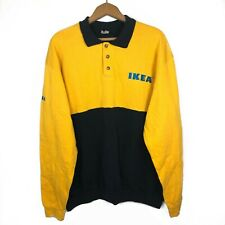 IKEA Yellow Employee Uniform Pullover Rugby Polo Employee Sales