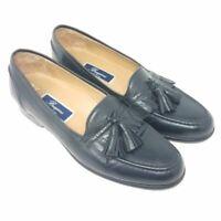 Cole Haan Bragano Mens Loafers Shoes Black Leather Slip-On Tassels 10 EUR 43 M