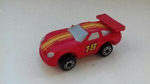 micro machine shelby cobra daytona coupe 18 vehicle yellow & red 1994