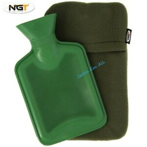 NGT Carp Fishing Hot Water Bottle - 1L Capacity with Fleece Lined