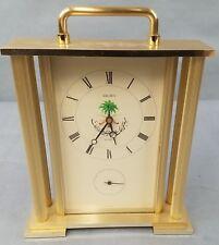 Seiko Desk Mantle Clock Gold Brass White Saudi Arabian QQZ125G