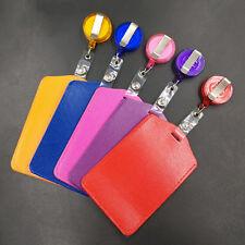 Bank Credit Card Holders PU Card ID  Holders Identity Badge Retractable Reel