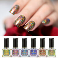 6ml BORN PRETTY Peacock Holographicss Nail Polish Holo Nail Art Varnish
