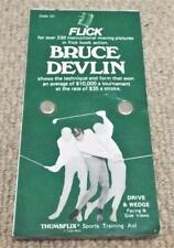 Bruce Devlin Golf 1970 Thumbflix Training Aid Flick / Flip Book - Drive & Wedge