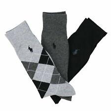 Polo Ralph Lauren Dress Socks 3 Pack Mens Pony Logo Professional Three Combo New