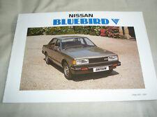 NISSAN BLUEBIRD GAMMA BROCHURE gen 1984