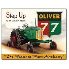 Sign - Oliver Tractor 77 Sign Man Cave Farm Garage Shed Tool Room Mens Gift