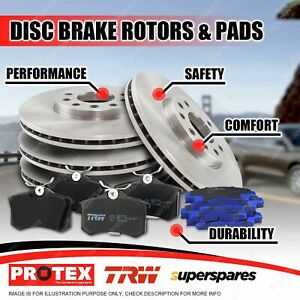 Front + Rear Disc Rotors Brake Pads for Saab 9-5 2.3L Turbo 9/97-9/99