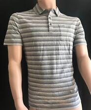 BNEWT MICHAEL KORS  Bold Stripe Ash Melange MK Logo Polo Shirt Size M CHEAP!