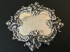 Vintage T Foree Hunsicker Sterling Silver Belt Buckle Cherubs & Flowers 98 Grams