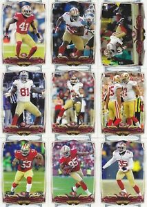 San Francisco 49ers 2015 Topps 13 Card Team Set  Colin Kaepernick  Gore  Boldin