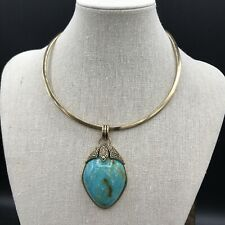 Barse Mayan Turquoise Collar Necklace- Bronze- New with Tags