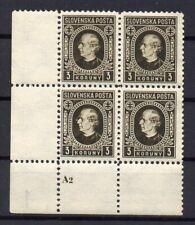 SLOVAKIA  1939,  MNH , PLATE NUMBER
