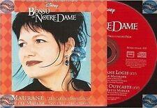 MAURANE LES COEURS SANS LOGIS CD SINGLE bossu de notre dame disney BETTE MIDLER