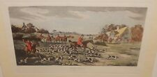 """THOMAS SUTHERLAND """"GOING TO COVER"""" AFTER HENRY ALKEN ORIGINAL COLORD ENGRAVING"""