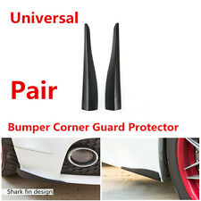 2 Pcs Car Styling Front Bumper Protector Corner Scratch Lower Lip Guard Black