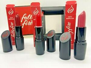 NIB Folly Fire - Matte Manipulation Lipstick Set of 3 Gorgeous Colors $40 MSRP!!