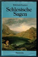 Schlesische Sagen von Will-Erich Peukert - 1. Neuausgabe von 1989