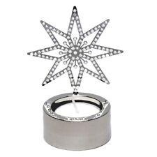 *New* Swarovski Silver Star Tea Light 5030477 Retired Original Box Crystals Nib