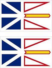 Set of 2x sticker vinyl car canada decal Newfoundland and Labrador moto flag