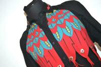 8547-a Womens Wrangler Western Shirt Red Blue Black Size Large