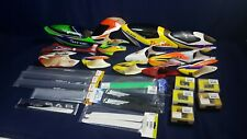 Large Lot RC Helicopter Canopy Blades Torque Tubes Servo Hardware Trex 450 LN