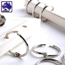 10x 20x 50x 100x Hinged Rings 19mm 25mm 32mm 50mm Binder Split Hinge Clips SRINS