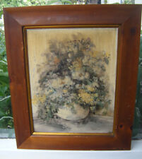 Mary Bertrand Original Signed Framed Vintage Floral Painting - Louisiana Artist