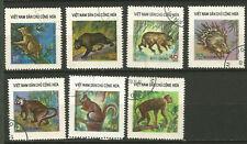 Vietnam du Nord 1976 animaux sauvages 7 timbres oblitérés/T8301
