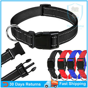 Reflective Dog Collars Adjustable Classic Dog Collar with Quick Release Buckle