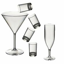 Roltex Party Pack Set of Polycarbonate unbreakable reusable plastic glasses